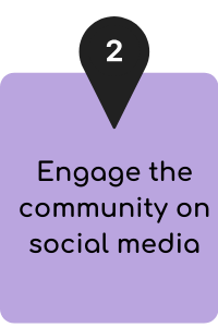 Engage the community on social media